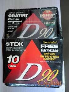 TDK D90 ( 10 komada ) sa koznom zastitnom torbicom
