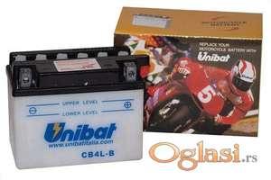 Akumulator Unibat CB4L-B 12V 4AH D+