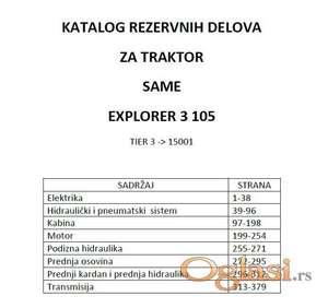 Same Explorer 3 105 Tier - Katalog delova