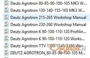 Deutz Fahr Agrotron - Radionički priručnici