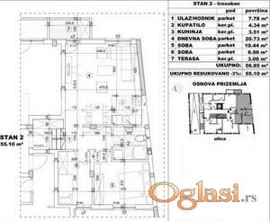 FANTASTČAN TROSOBAN STAN 55 m2 IZGRADNJA U BLIZINI CENTRA GRADA-povraćaj PDV-a