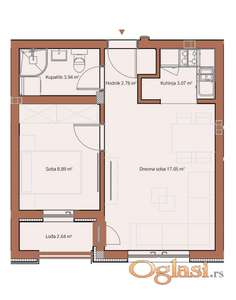 TELEP, 39 m2, 63250 EUR