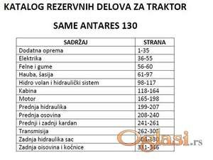 Same Antares 130 - Katalog delova