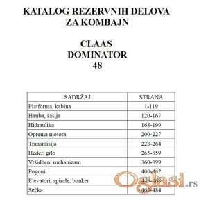 Claas Dominator 48 - Katalog delova