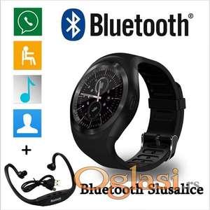 Elegantni Smart Watch Y1 - Pametni Sat -Mobilni Telefon - Pogodno i za Decu!