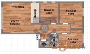 Nov četvorosoban stan, Veternička rampa, sa povratom PDV-a!