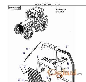 Massey Ferguson 3080 - Katalog delova