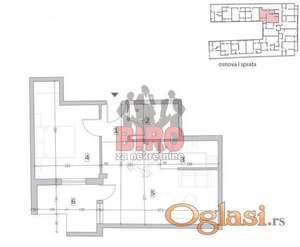 Nov dvosoban stan u novoj zgradi u Petrovaradinu, nekoliko minuta od centra grada