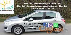 Prevoz i doček putnika Novi Sad - aerodrom Beograd, auto putem, Poziv, SMS, Viber, WhatsApp,0631477784