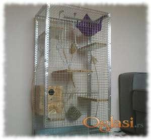 Veliki kavez za degue, veverice, cincile, sa kucicom