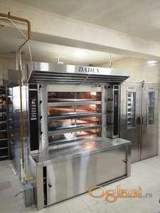 Parne etažne pekarskea peći DADEX 4,6,8,10 do 18m2 sa pratećom opremom