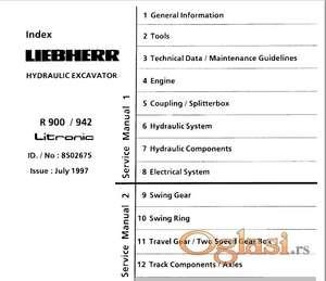 Libeherr R 900-902-912-922-932-942 Litronic Radionički priručnik