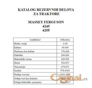 Massey Ferguson 4245 - 4255 Katalog delova