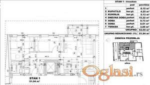 FANTASTČAN TROSOBAN STAN 52 m2 IZGRADNJA U BLIZINI CENTRA GRADA-povraćaj PDV-a