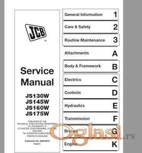 JCB JS 130W-145W-160W-175W  Radionički priručnik