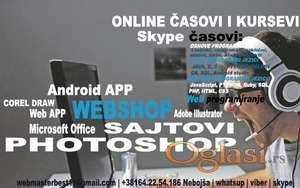 Izrada sajtova, portala, WEB app, Optimizacija, SKYPE poducavanje, webshopovi
