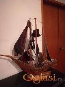 Fantasticna maketa jedrenjaka, italijanski rucni rad