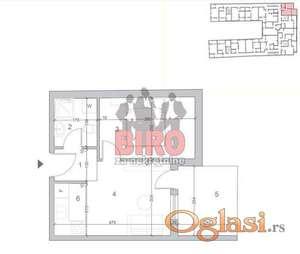 Dvosoban stan u novoj zgradi u Petrovaradinu, par minuta od centra grada, TOP LOKACIJA