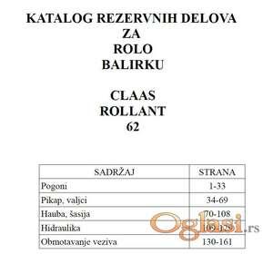 Claas Rollant 62 Katalog rezervnih delova