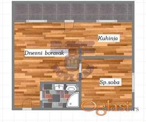Oličan kvalitet gradnje! Uz stan se dobija dvoriste oko 5-6 kvadrata koje pripada samo stanu!