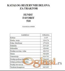 Fendt Favorit 510 - Katalog delova