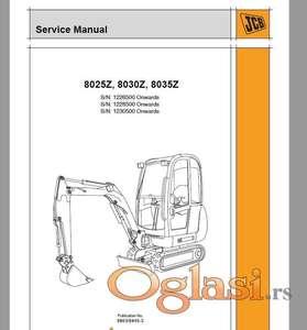 JCB 8025Z - 8030Z - 8035Z RAdionički priručnik