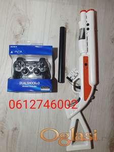 Džojstik za Sony PS3 + Puska za PS3 AKCIJA