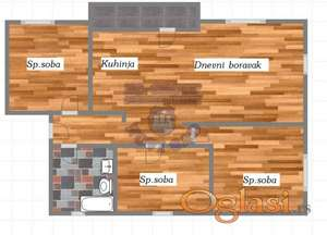 Odlican troiposoban stan u izgradnji na Sajlovu!!!021/662-0001