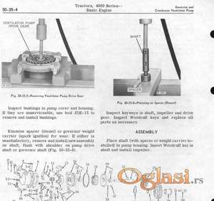 John Deere 4010 - 4020 Radionički priručnik
