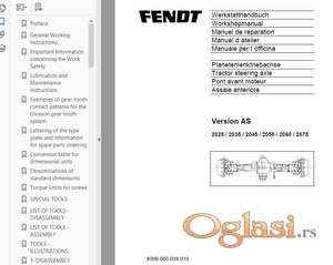 Fendt 409 - 410 - 411 - 412 radionički priručnik