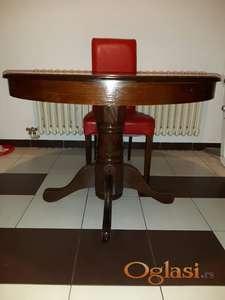 Okrugli trpezarijski sto na razvlacenje