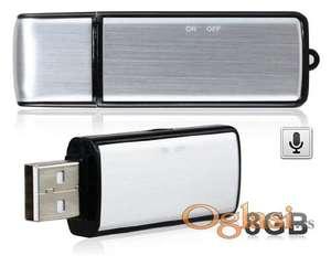 Audio nadzor - srebrni 8gb kao USB fleš 15 sati snimanja