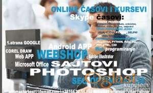 Online casovi, seminarski radovi, diplomski, programiranje, sajtovi