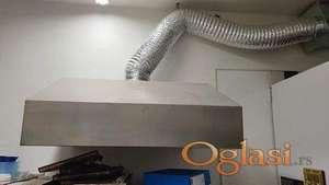 Hauba za ventilaciju + mali ventilator + crevo/ nekorišćeno