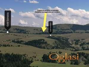 Zemljiste na Zlatiboru sa pogledom i vazduhom koji leci.