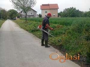 Košenje, krčenje, raščišćavanje i uredjenje zapuštenih placeva-terena-zelenih povrsina-zemljišta...