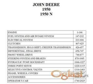 John Deere 1950 1950N - Katalog delova