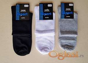 Čarape 40-43 i 43-46, sto posto pamuk