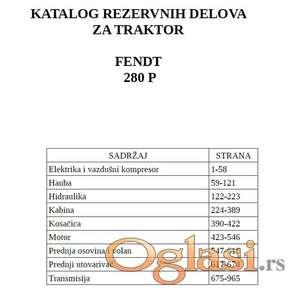 Fendt 280 P - Katalog delova