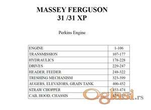 Massey Ferguson 31/31XP - Katalog delova