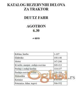 Deutz Fahr Agotron 6.30 - Katalog delova