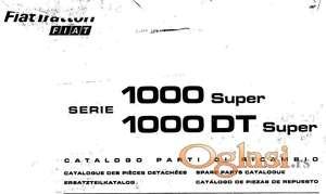 Fiat 1000 Super DT - katalog delova