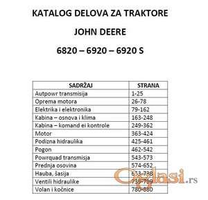 John Deere 6820 - 6920 - 6920 S Katalog rezervnih delova