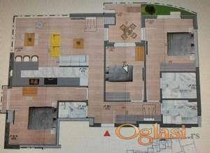 Porodičan stan u najluksuznijoj zgradi u gradu! Preporuka!
