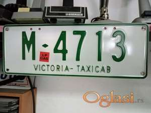 Tablica taxi M-4713 iz Australije