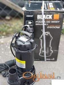 Muljna pumpa metalna Black 2600w sa seckalicom