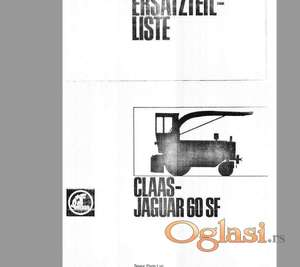 Claas Jaguar 60 - 70 - 80 SF silo kombajni- Katalozi delova