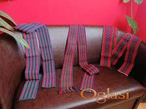 NOVI tkani pojasevi za narodnu nošnju (5 komada)