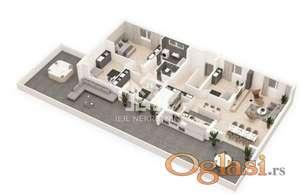 Petosoban stan, centar grada, penthaus, terasa 118m2