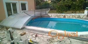 Pokrivanje bazena sa klizačima 2500 e 4x7